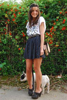 Lovelypepa dotted skirt