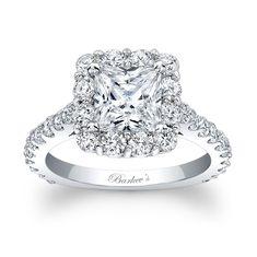 Princess+Cut+Halo+Engagement+Ring+-+Princess+Cut+Halo+Engagement+Ring