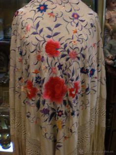 MANTON DE MANILA (Antigüedades - Moda - Complementos - Mujer - Mantones Antiguos)
