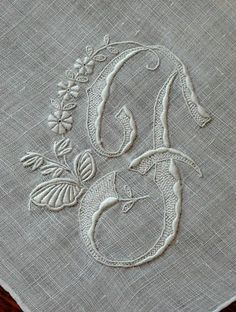 Embroidered monogram F
