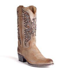 Sendra laarzen 8987 Sara Sabia Taupe zijkant
