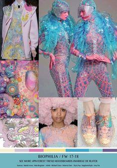 BIOPHILIA / TREND - FW 17/18 - Marieke de Ruiter Fashion Colours, Colorful Fashion, Fashion 2017, Fashion Trends, Fashion Forecasting, Future Trends, Color Trends, Color Inspiration, Bunt