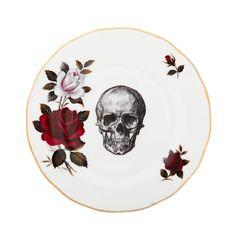 Upcycled Skull Design Vintage Side Plate