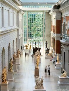 Photo: View of the Metropolitan Museum Petrie Court - Framed Fine Art Print / Photograph - Metropolitan Museum of Art Photography
