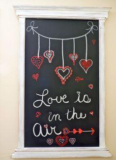 My Valentine chalkboard 1-28-14