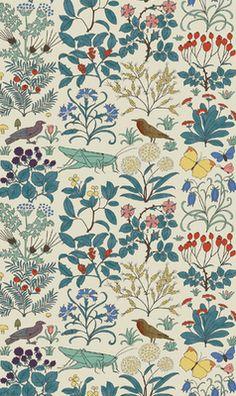 Apothecary's Garden, Voyse arts & crafts wallpaper for future powder room