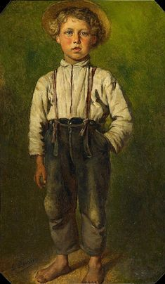 "Ludwig Knaus - ""Portrait of a Boy"" date unknown 