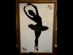 ▶ Ballet Crushed Glass Painting By Stephani Chandler - YouTube