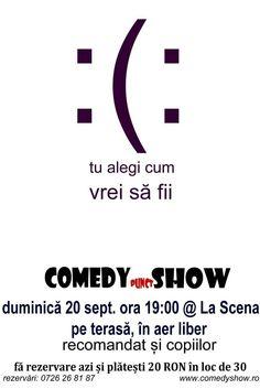 Comedy.Show, duminică 20 septembrie, ora 19:00, pe terasa La Scena