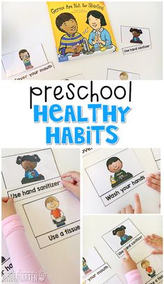 Read about germs, then use word cards to read and match to each picture. Great for tot school, preschool, or even kindergarten!