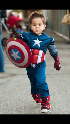 fb338616a8f Captain America Baby rompers winter thickening cartoon Superman ...