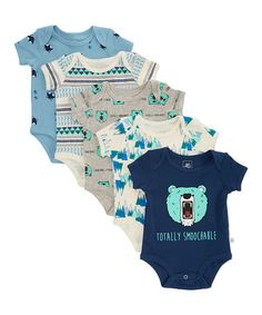 Ruffled sleeves polish off these pretty bodysuits. Soft cotton promises lots of comfort for your little one. Snap closures make changes a breeze.