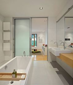 fliesen badewanne schiebetür badezimmer cool waschtisch | Bad ...
