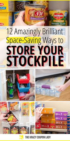 You can build a stockpile in a small space! Even if you've got no pantry or a, Emergency Preparedness Food, Emergency Food Storage, Emergency Preparation, Survival Food, Survival Prepping, Survival Quotes, Survival Skills, Household Items, Pantry