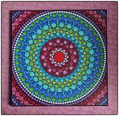 Colorful Print Laminated on woodblock- Peace Mandala by ElspethMcLean on Etsy