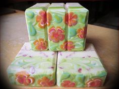 Browsing soap pics - Page 84 - Soap Making Forum Savon Soap, Decorative Soaps, Bomb Making, Cold Process Soap, Soap Recipes, Home Made Soap, Handmade Soaps, Flower Designs, Bath And Body