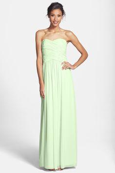 7d88691834  Audrey  Strapless Chiffon Gown