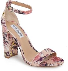 ankle straps heels for women Pretty Shoes, Cute Shoes, Me Too Shoes, Pretty Sandals, Ankle Straps, Ankle Strap Sandals, Shoes Heels, High Heels, Floral Shoes