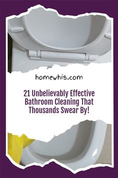 Maintaining a clean bathroom is an important routine that keeps the home smelling good and looking clean. Here are 21 bathroom cleaning hacks that will make cleaning your bathroom so much easier and with less sweat. Visit the blog post to see all 23 bathroom cleaning hacks to clean, disinfect and deodorize your bathroom. #homewhis #cleaninghacks #bathroomcleaning #cleaningtips #cleaning #cleanbathroom #smellhacks #bakingsodacleaning #cleaningschedule Fridge Organization, Home Organization Hacks, Organizing Your Home, Bathroom Organization, Baking Soda Cleaning, Dawn Dish Soap, Hard Water Stains, Bathroom Cleaning Hacks, Dishwasher Detergent