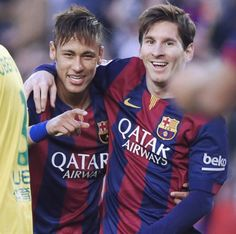 Neymar JR and Lionel Messi (FC Barcelona)