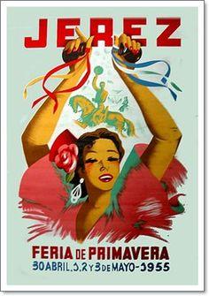 Cartel anunciador de la Feria de Jerez de la Frontera de 1955