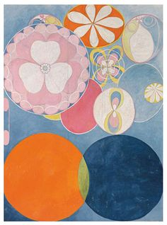 Hilma af Klint, The Ten Biggest, No 2, 1907. Oil and tempera on paper, 328 x 240 cm. Courtesy of Tate Museum.