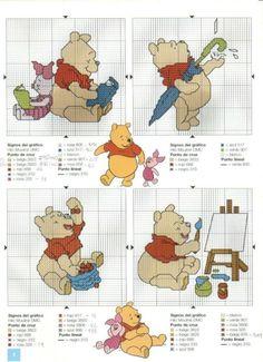winnie the pooh cross stitch                                                                                                                                                                                 More