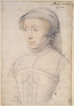 Jean Clouet, Francoise de Longwy, Lady of Chabot, Brion, Buzancais, and Charny, c.1555