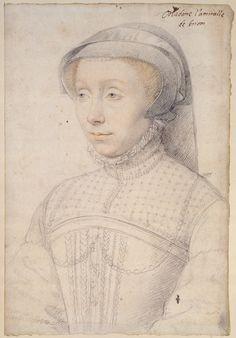 Jean Clouet, Francoise de Longwy, Lady of Chabot, Brion, Buzancais, and Charny, c.1555