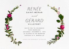Belvoir (Invitation) - White - online at Paperless Post