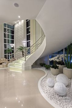 Modern staircase Gathering Series 3 Full Decoration of the Best Home Living Room from Social Medi Luxury Homes Dream Houses, Dream House Interior, Dream Home Design, Modern House Design, Home Interior Design, Mansion Interior, Interior Garden, Dream Homes, Interior Decorating