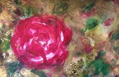 Check out Aase Birkhaug, Autumn rose D Or I  (2015), From Art Screen TV Autumn Rose, Saatchi Art, Original Paintings, Artsy, Watercolor, Artwork, Plants, Roses, Tv