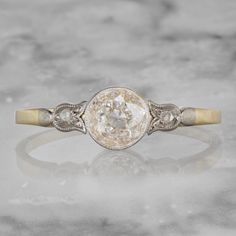 ct Champaign diamond, set in platinum topped gold Engagement Ring On Hand, Colored Engagement Rings, Pear Shaped Engagement Rings, Diamond Engagement Rings, Antique Wedding Rings, Antique Engagement Rings, Antique Rings, Antique Jewelry, Diamond Girl