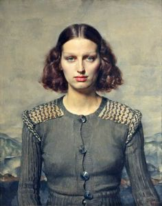 Jeunesse dorée by Gerald Leslie Brockhurst Date painted: 1934 Oil on board, 76.2 x 63.1 cm Collection: National Museums Liverpool                                                                                                                                                     More