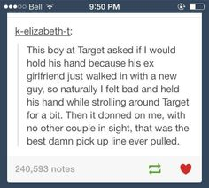One of the best pick-up lines My Tumblr, Tumblr Posts, Tumblr Funny, Funny Quotes, Funny Memes, Sims Memes, Hilarious Texts, Funniest Memes, Memes Humor