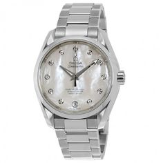 Omega Seamaster Aqua Terra Mother of Pearl Diamond Dial Stainless Steel Automatic Ladies Watch 23110392155002