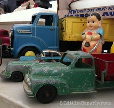 Toy trucks at the Raleigh Flea Market
