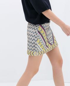 ZARA - NEW THIS WEEK - EMBROIDERED SKIRT