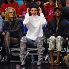 BRB I just need to put on my 7k (insanely good) @ysl boots on for the basketball match hun.  #kendalljenner via ELLE UK MAGAZINE OFFICIAL INSTAGRAM - British Fashion Campaigns  Haute Couture  Advertising  Editorial Photography  Magazine Cover Designs  Supermodels  Runway Models