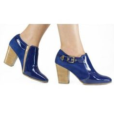 Ankle Boot Usaflex Couro Luxor Azul S6008/12