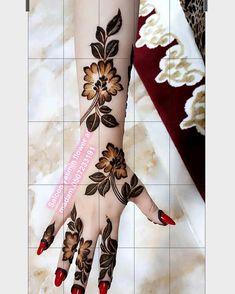 Henna Design By Fatima Modern Henna Designs, Henna Hand Designs, Rose Mehndi Designs, Simple Arabic Mehndi Designs, Mehndi Designs 2018, Khafif Mehndi Design, Mehndi Designs For Girls, Mehndi Design Photos, Wedding Mehndi Designs