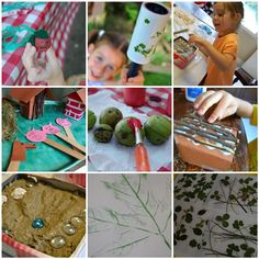 nature, crafts, kids! Im all for it!!