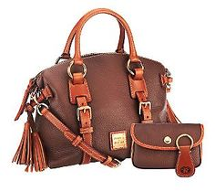 Dooney & Bourke Pebble Leather Domed Satchel w/Accessories   $308.28; QVC.com