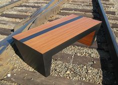 Custom Made Steel and Bamboo Coffee Table by Bill More Designs
