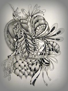 Nice. From LeeAnn's Zentangle-ing Fun site.