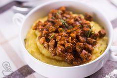 aprenda a fazer essa deliciosa polenta com ragú cheia de segredinhos que deixam ela ainda mais gostosa