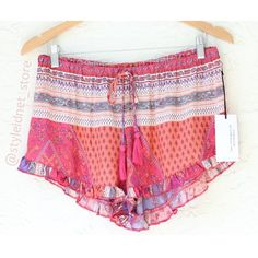 "Boheme Festival Style Shorts (Coachella) ❤️ BUNDLES  ❌ NO TRADES  ❌ NO Low balling!   • NEW! • • Stretch Waist  * Material: - 100% Rayon  * MEASUREMENTS: - Size: S - Length: 14""  - Size: M  - Length: 13""  - Size: L  - Length: 14"" Shorts"