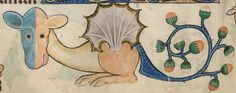 Detail from The Luttrell Psalter, British Library Add MS 42130 (medieval manuscript,1325-1340), f178v