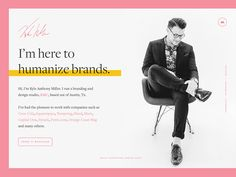 Personal Site by Kyle Anthony Miller - Dribbble