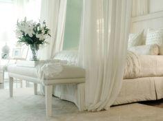 Beautiful bedroom #white #bedroom #linen #decor